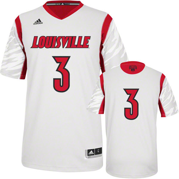 Louisville Cardinals 2013 March Madness #3 Premier White Swingman Jersey