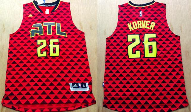 Hawks 26 Kyle Korver Red Swingman Jersey