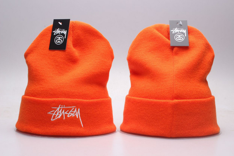 Stussy Orange Fashion Knit Hat YP