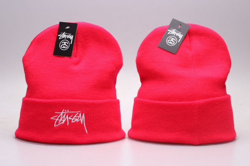 Stussy Red Fashion Knit Hat YP