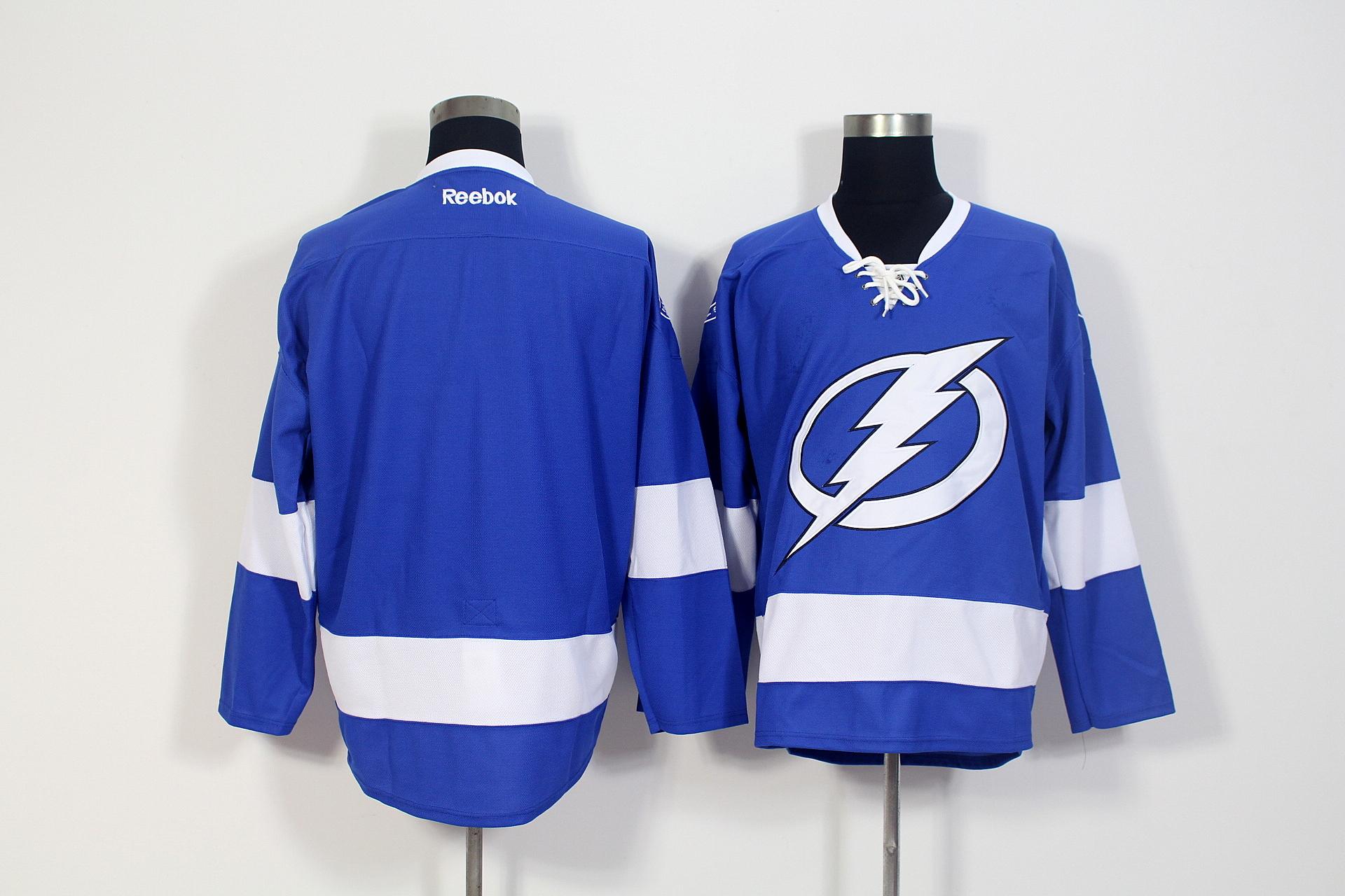 Lightning Blank Blue Home Reebok Jersey