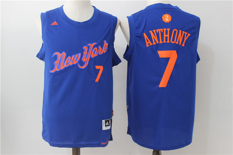Knicks 7 Carmelo Anthony Royal 2016 Christmas Day Swingman Jersey