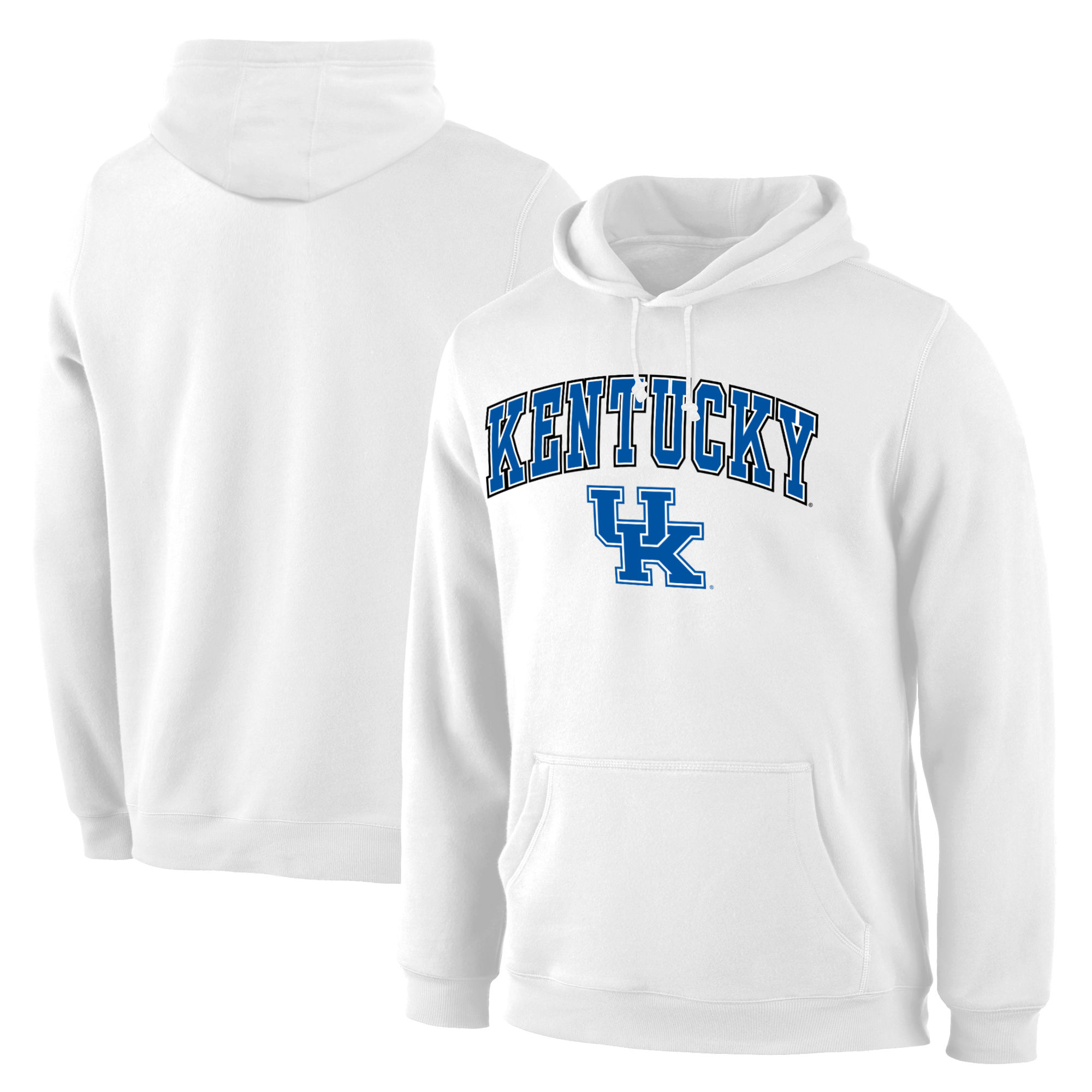 Kentucky Wildcats White Campus Pullover Hoodie