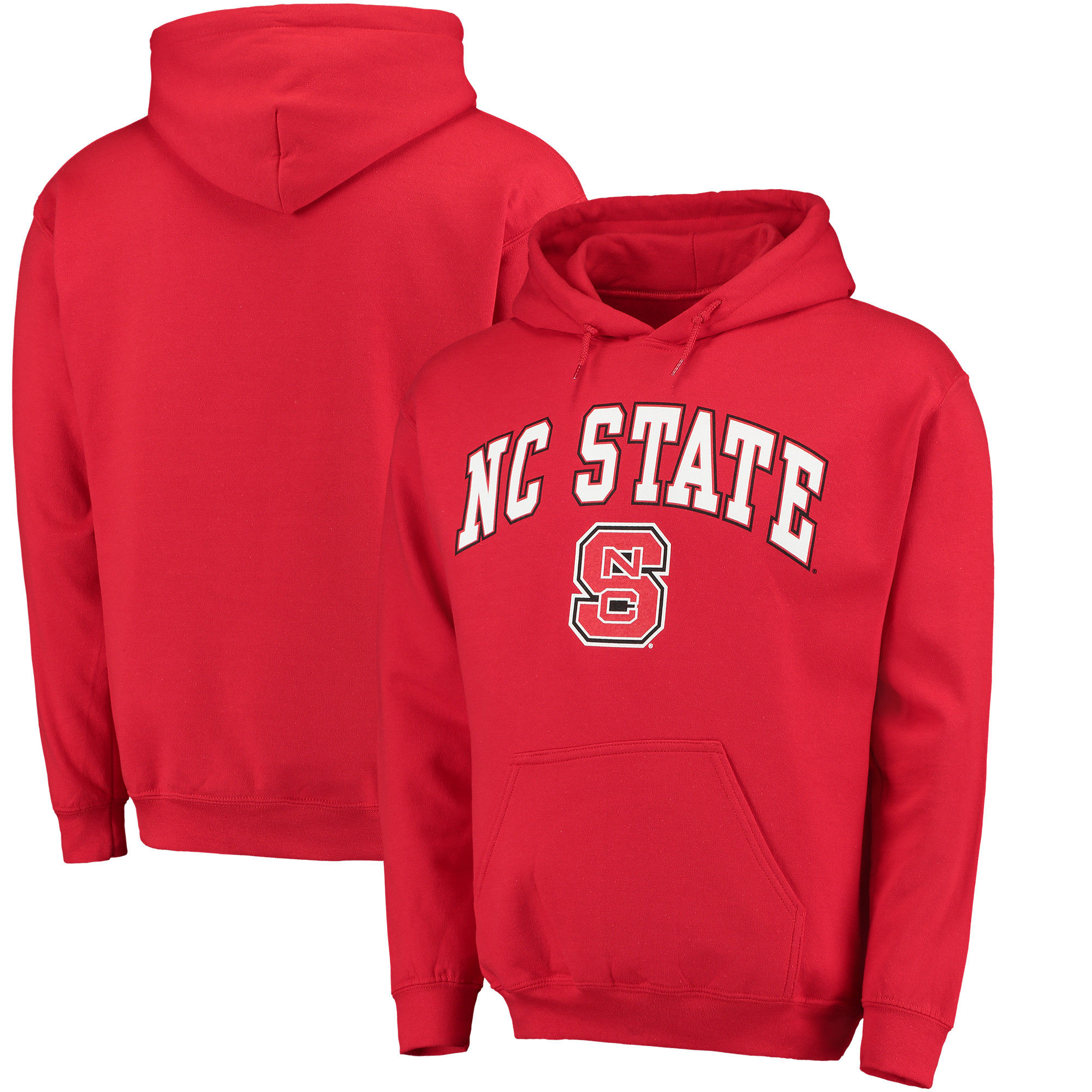NC State Wolfpack Red Campus Pullover Hoodie
