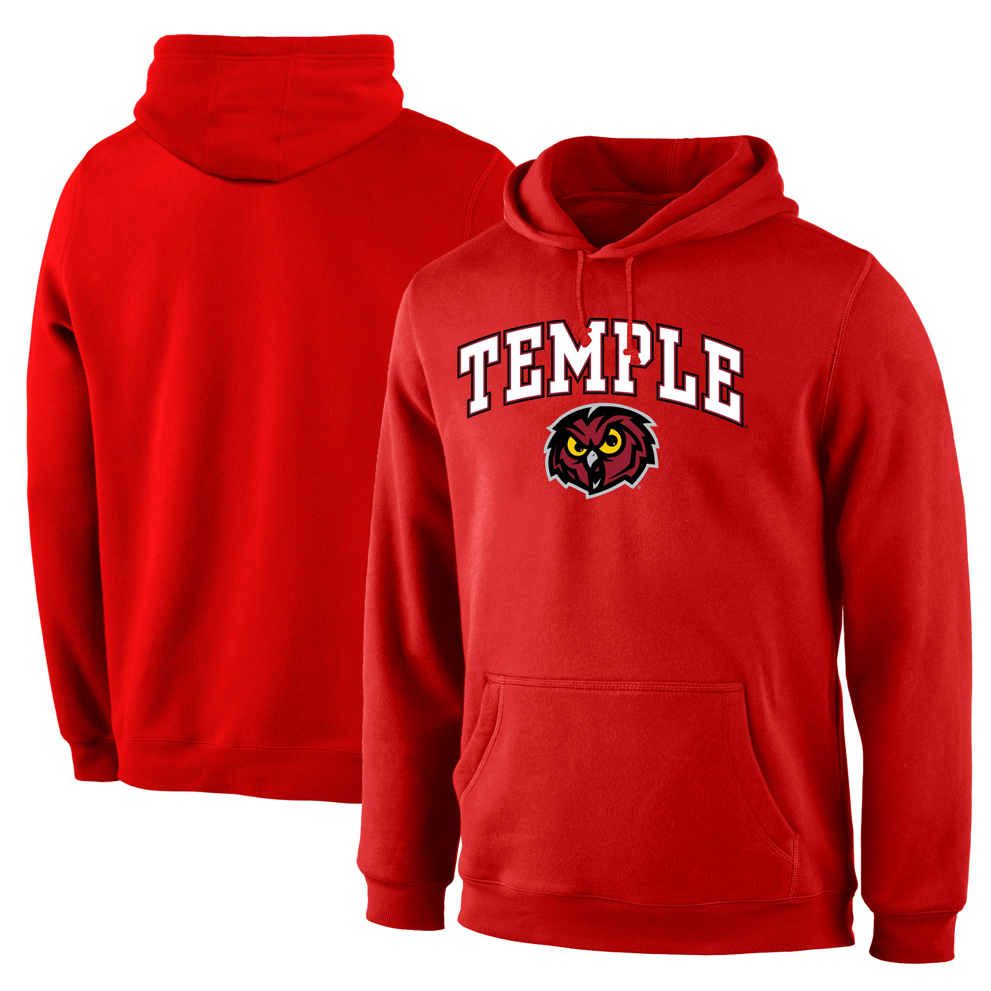 Temple Owls Red Campus Pullover Hoodie (1)