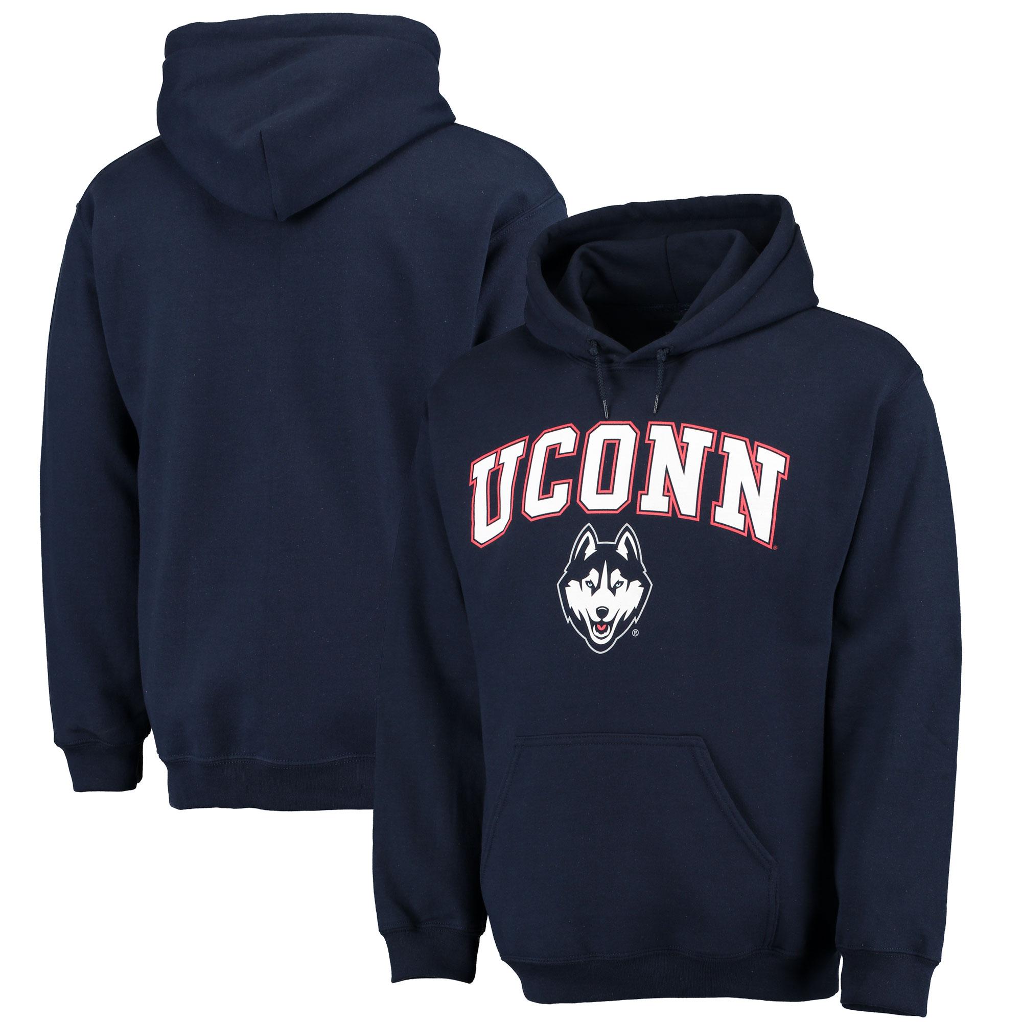UConn Huskies Black Campus Pullover Hoodie (2)