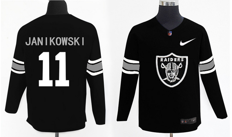 Nike Raiders 11 Sebastian Janikowski Black Knit Sweater