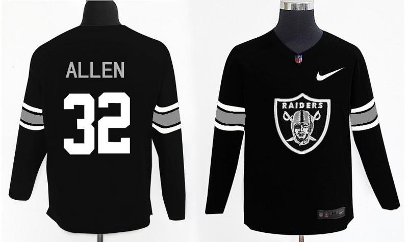 Nike Raiders 32 Marcus Allen Black Knit Sweater