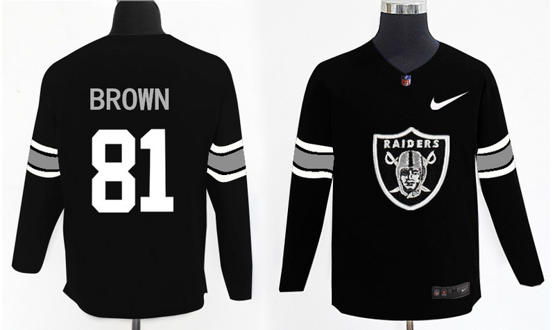 Nike Raiders 81 Tim Brown Black Knit Sweater