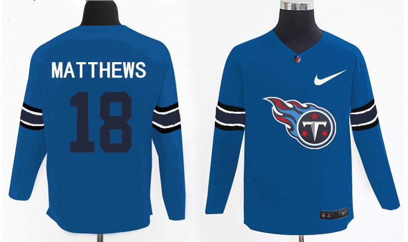 Nike Titans 18 Rishard Matthews Light Blue Knit Sweater