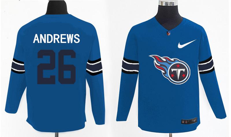 Nike Titans 26 Antonio Andrews Light Blue Knit Sweater