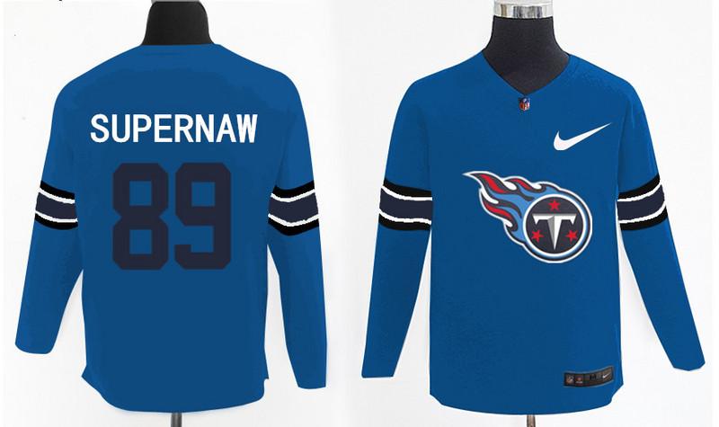 Nike Titans 89 Phillip Supernaw Light Blue Knit Sweater