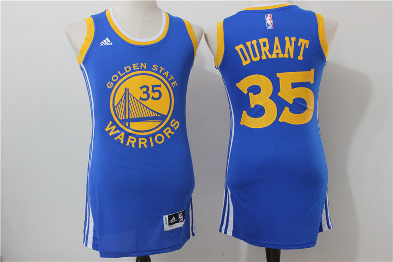 Warriors 35 Kevin Durant Royal Women Swingman Jersey