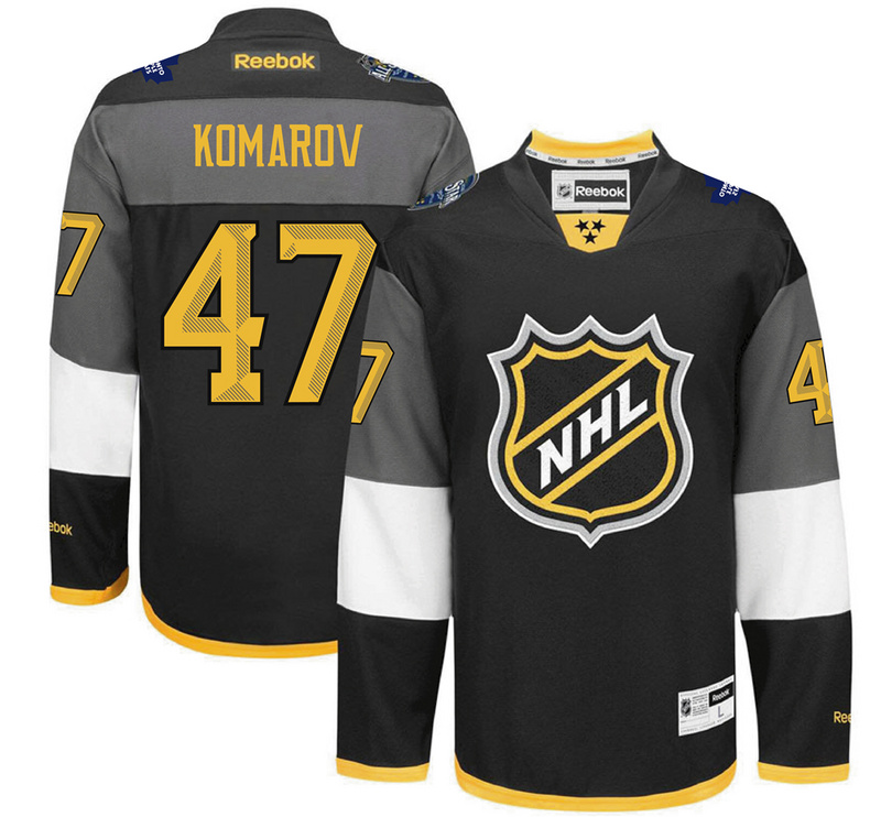 Maple Leafs 47 Leo Komarov Black 2016 All-Star Premier Jersey