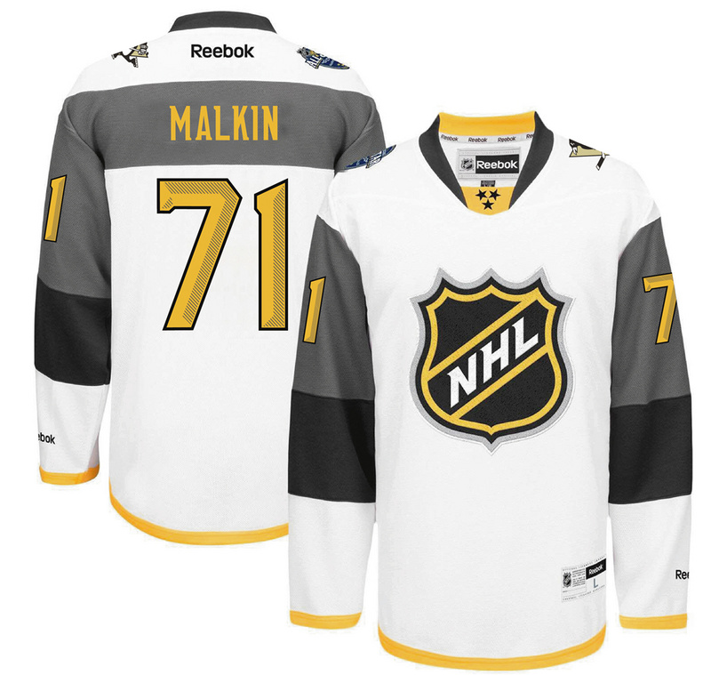 Penguins 71 Evgeni Malkin White 2016 All-Star Premier Jersey