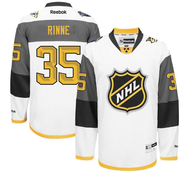 Predators 35 Pekka Rinne White 2016 All-Star Premier Jersey