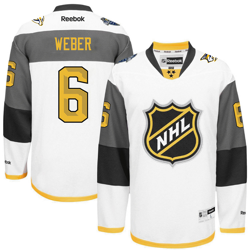Predators 6 Shea Weber White 2016 All-Star Premier Jersey