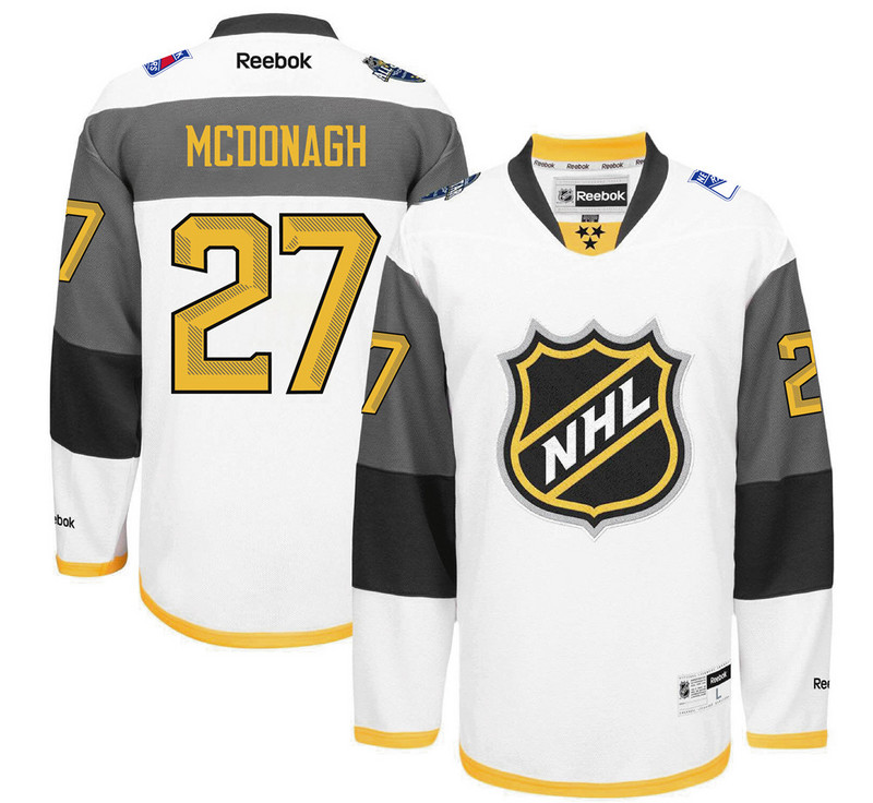 Rangers 27 Ryan Mcdonagh White 2016 All-Star Premier Jersey