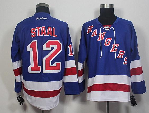 Rangers 12 Marc Staal Blue Reebok Jersey