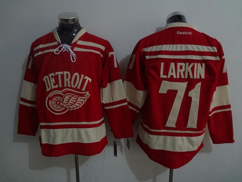 Red Wings 71 Dylan Larkin Red Reebok Jersey