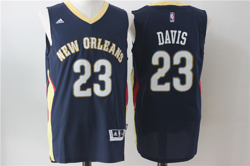 Pelicans 23 Anthony Davis Navy Blue Swingman Jersey