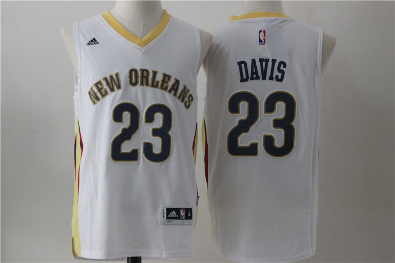 Pelicans 23 Anthony Davis White Swingman Jersey