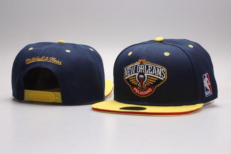 Pelicans Navy Mitchell & Ness Adjustable Hat YP