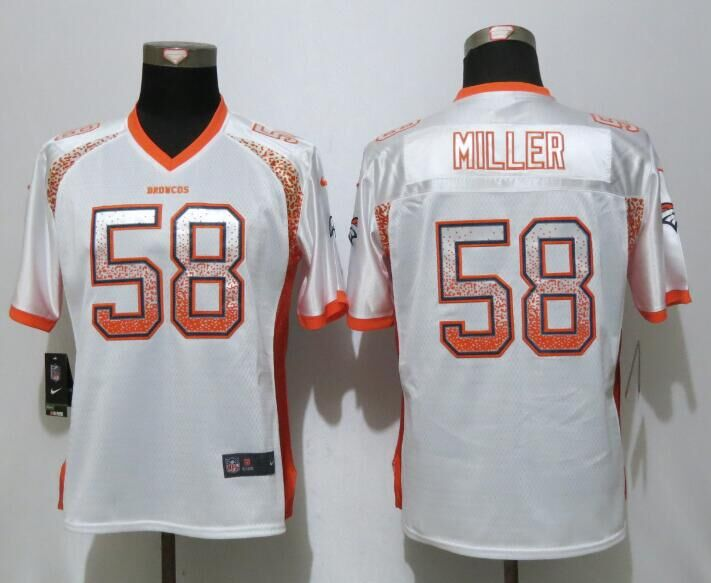 Nike Broncos 58 Von Miller White Women Drift Fashion Jersey