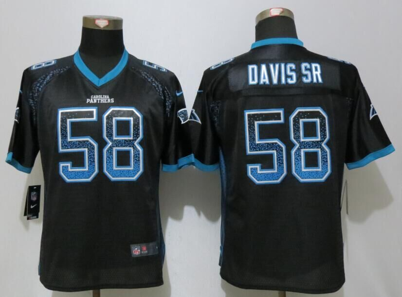 Nike Panthers 58 Thomas Davis Sr Black Women Drift Fashion Jersey