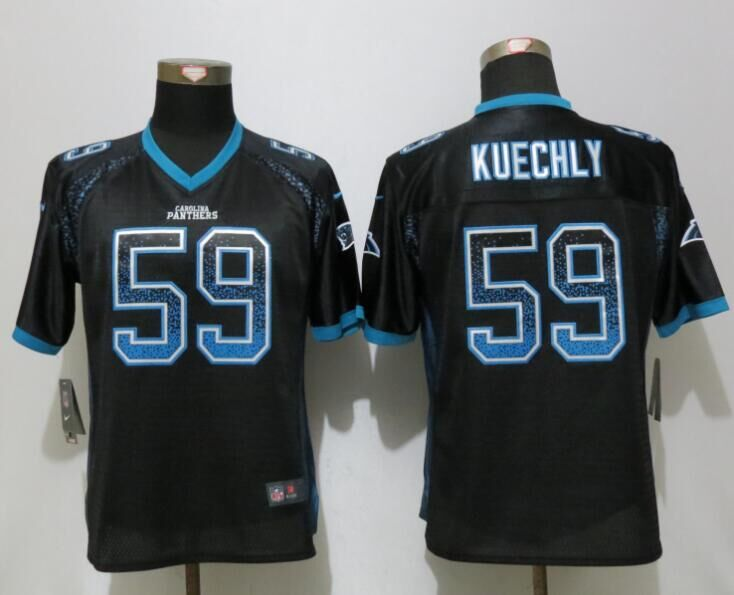 Nike Panthers 59 Luke Kuechly Black Women Drift Fashion Jersey