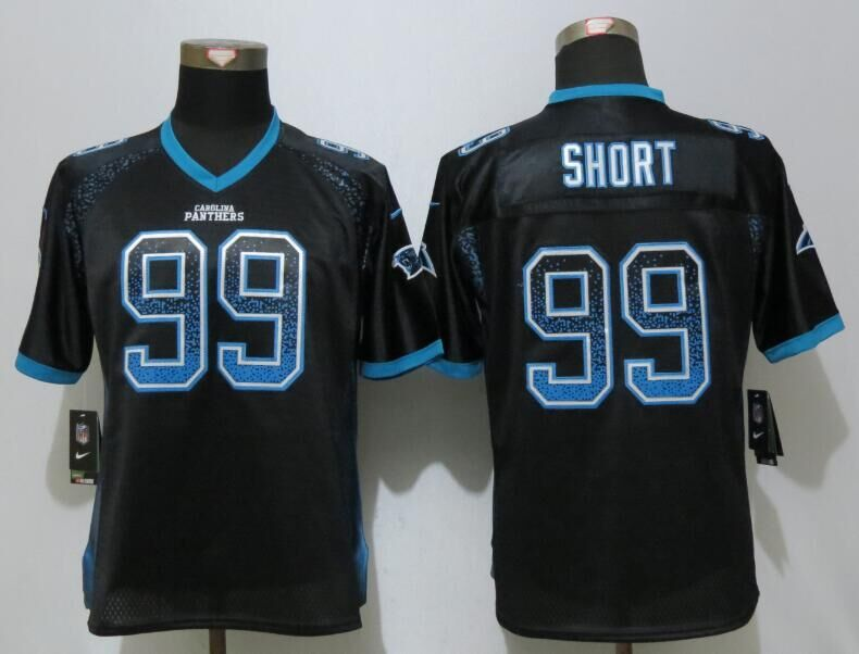 Nike Panthers 99 Kawann Short Black Women Drift Fashion Jersey