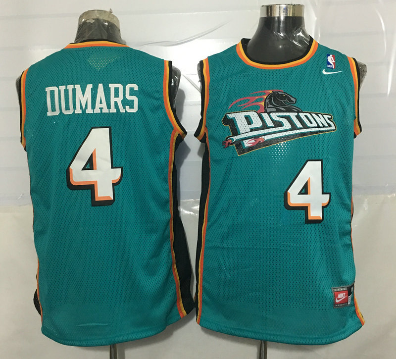 Pistons 4 Joe Dumas Teal Nike Stitched Jersey