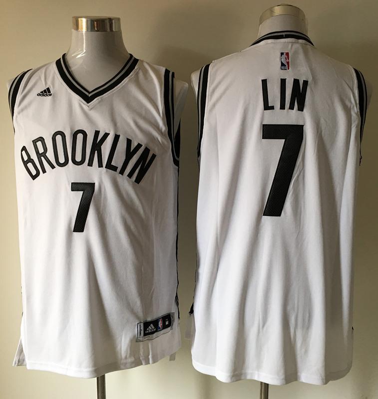 Nets 7 Jeremy Lin White Swingman Jersey