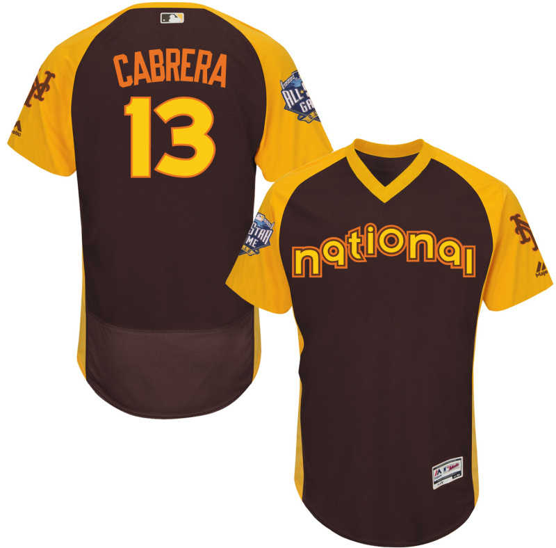 Mets 13 Asdrubal Cabrera Brown 2016 All-Star Game Cool Base Batting Practice Player Jersey