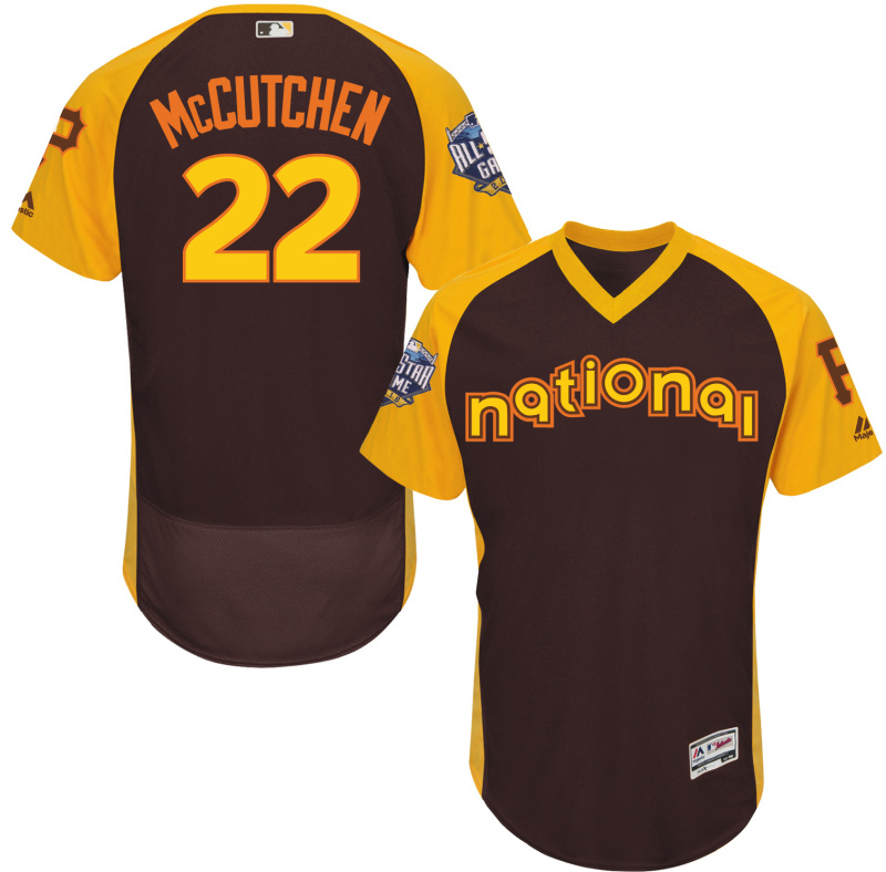 Pirates 22 Andrew McCutchen Brown 2016 All-Star Game Cool Base Batting Practice Player Jersey