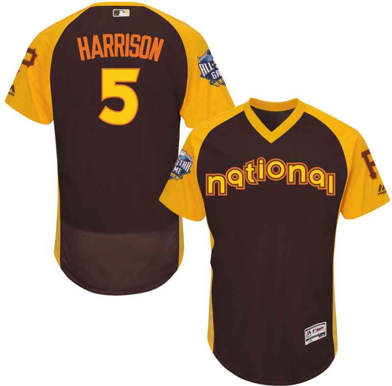 Pirates 5 Josh Harrison Brown 2016 All-Star Game Cool Base Batting Practice Player Jersey