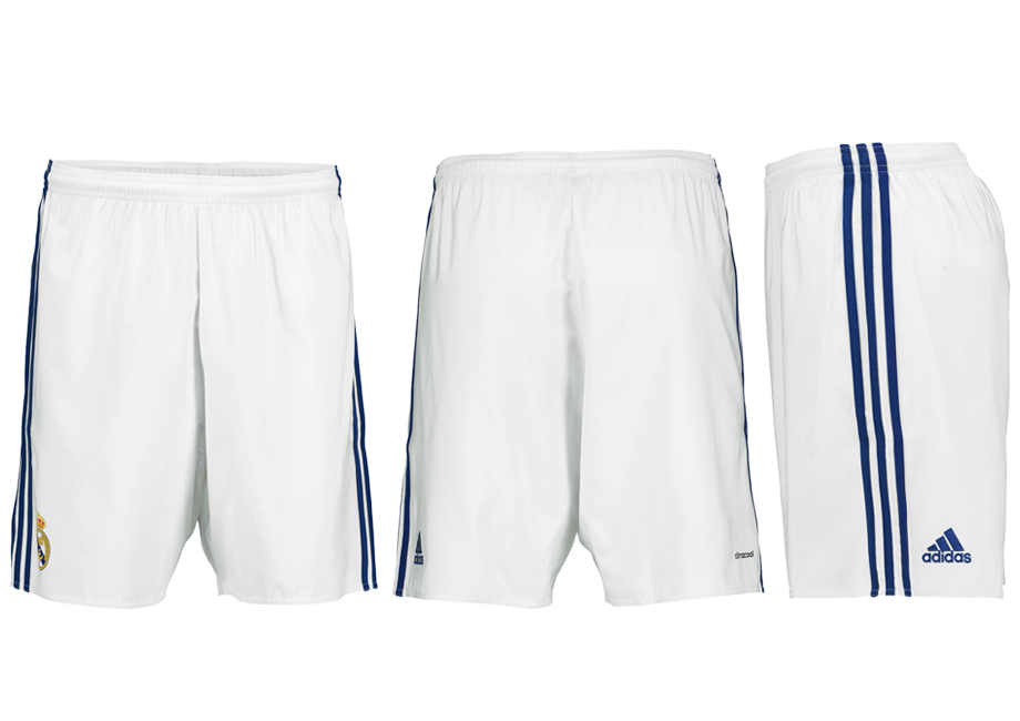 2016-17 Real Madrid Home Soccer Shorts