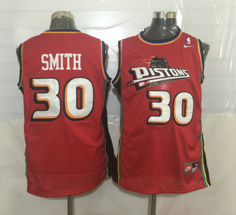 Pistons 30 Joe Smith Red Nike Stitched Jersey