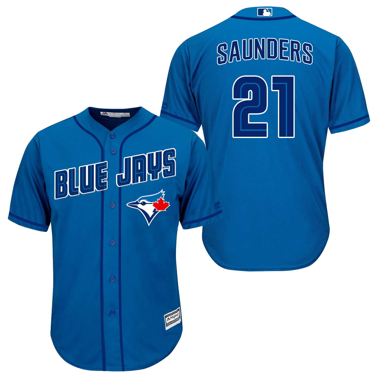 Blue Jays 21 Michael Saunders Light Blue New Cool Base Jersey
