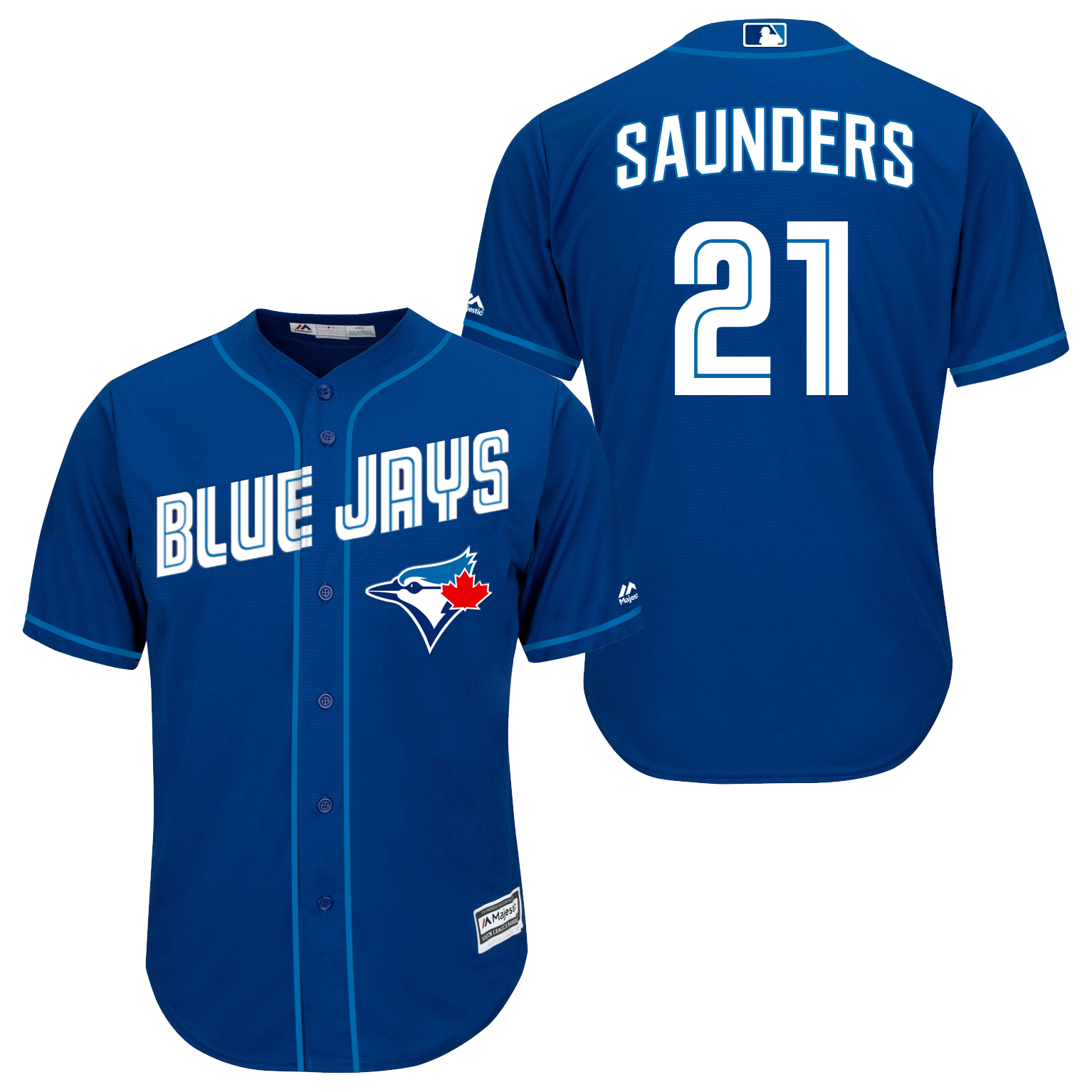 Blue Jays 21 Michael Saunders Royal Blue New Cool Base Jersey