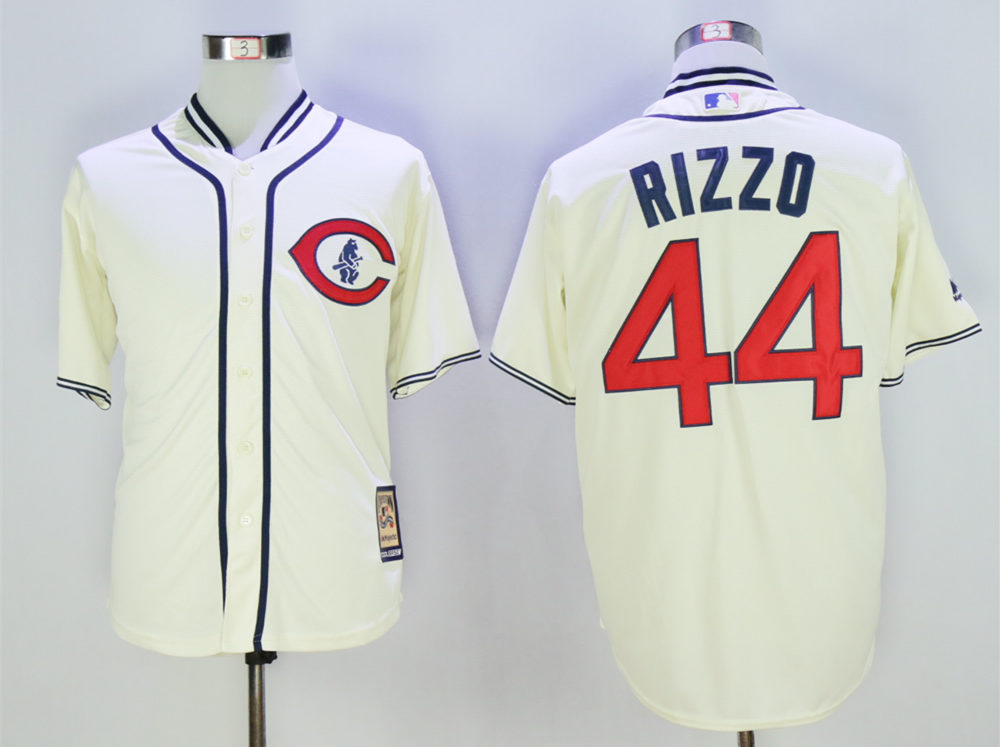 Cubs 44 Anthony Rizzo Cream 1929 Turn Back The Clock Cool Base Jersey
