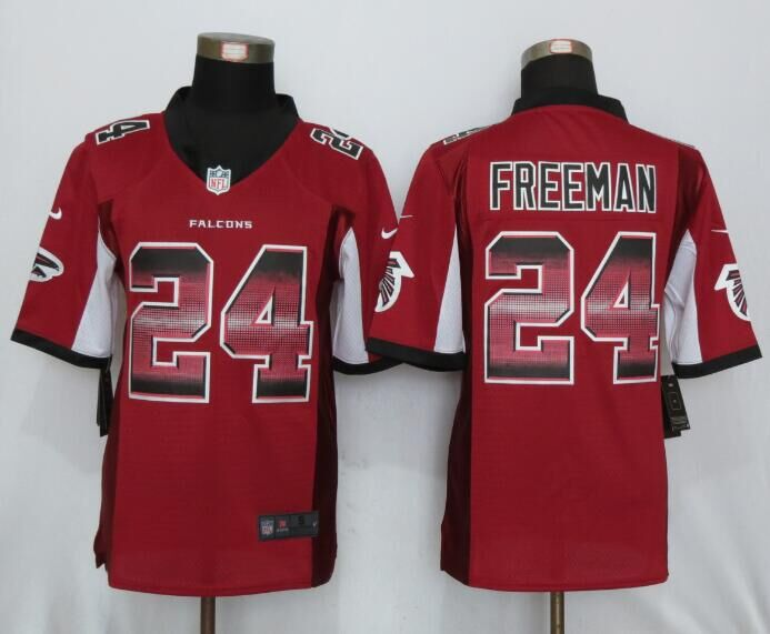 Nike Falcons 24 Devonta Freeman Red Pro Line Fashion Strobe Limited Jersey