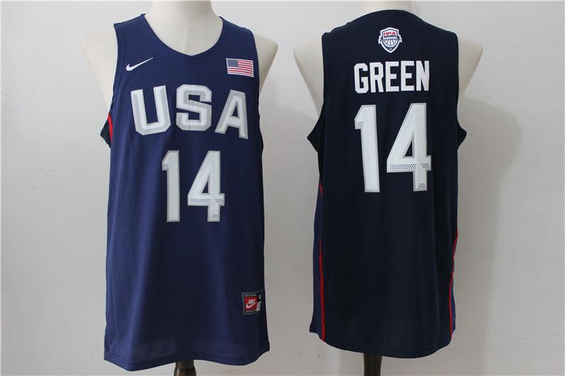 USA Basketball 14 Draymond Green Royal Nike Rio Elite Stitched Jersey
