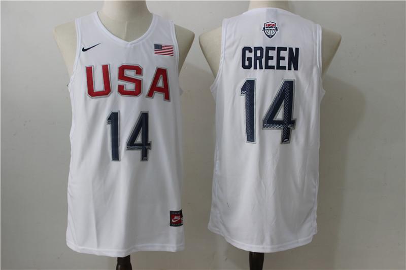 USA Basketball 14 Draymond Green White Nike Rio Elite Stitched Jersey