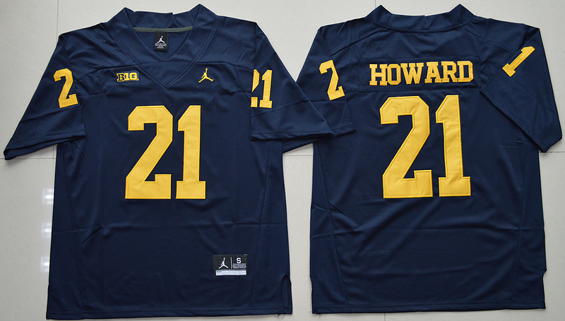 Michigan Wolverines 21 Desmond Howard Navy College Football Jersey