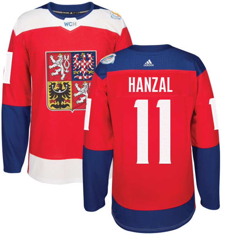 Czech Republic 11 Martin Hanzal Red 2016 World Cup Of Hockey Premier Player Jersey