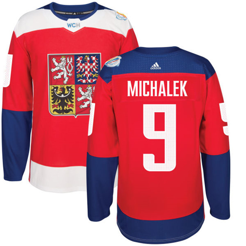 Czech Republic 9 Milan Michalek Red 2016 World Cup Of Hockey Premier Player Jersey