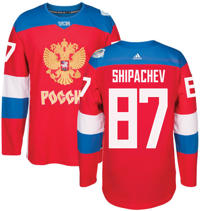 Russia 87 Vadim Shipachev Red 2016 World Cup Of Hockey Premier Player Jersey