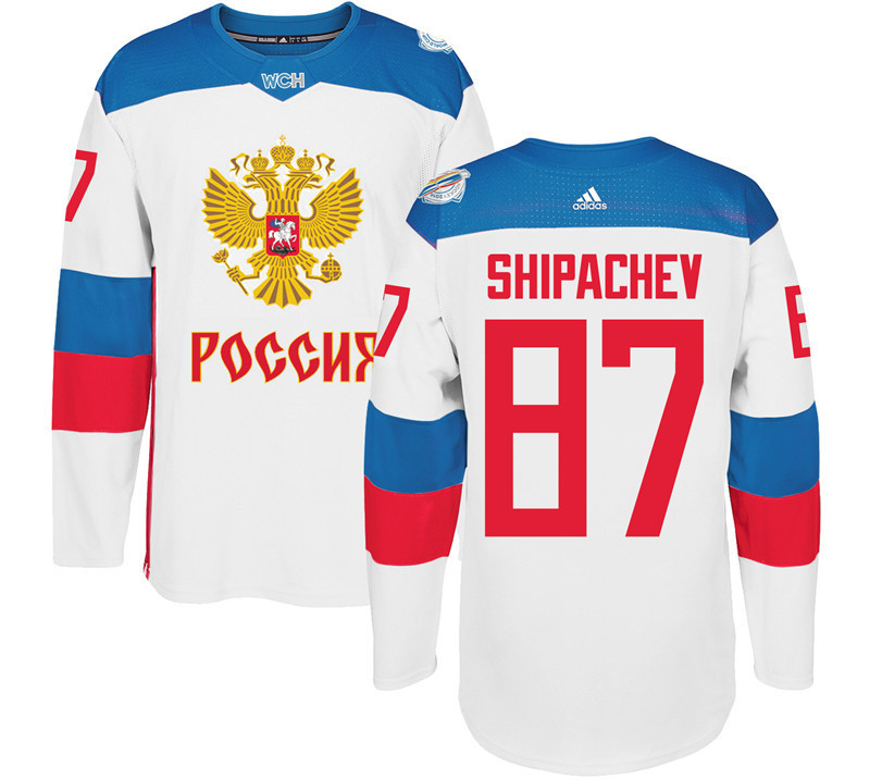 Russia 87 Vadim Shipachev White 2016 World Cup Of Hockey Premier Player Jersey