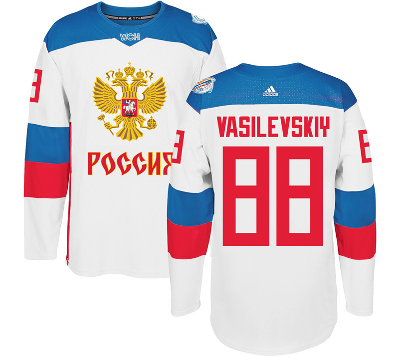 Russia 88 Andrei White 2016 World Cup Of Hockey Premier Player Jersey